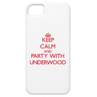 Guarde la calma y vaya de fiesta con sotobosque iPhone 5 carcasas