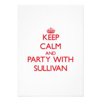 Guarde la calma y vaya de fiesta con Sullivan Invitaciones Personalizada