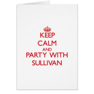 Guarde la calma y vaya de fiesta con Sullivan Tarjetón