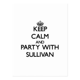 Guarde la calma y vaya de fiesta con Sullivan Tarjetas Postales