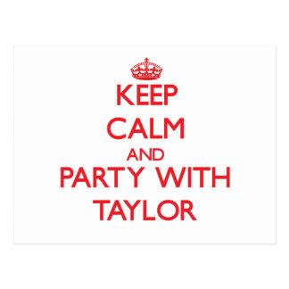 Guarde la calma y vaya de fiesta con Taylor Postal