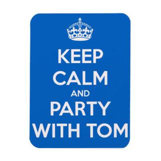 Guarde la calma y vaya de fiesta con Tom Imán Flexible