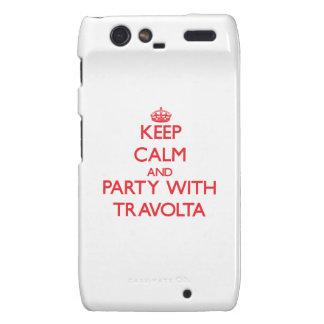 Guarde la calma y vaya de fiesta con Travolta Motorola Droid RAZR Fundas