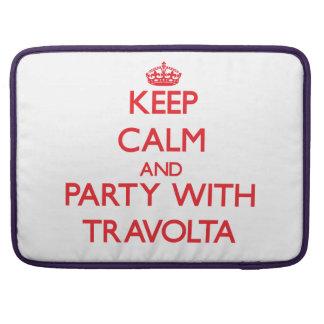 Guarde la calma y vaya de fiesta con Travolta Funda Para Macbook Pro