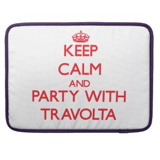 Guarde la calma y vaya de fiesta con Travolta Fundas Macbook Pro