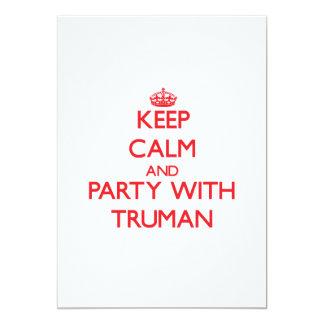 Guarde la calma y vaya de fiesta con Truman Comunicado Personalizado