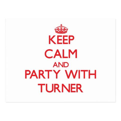 Guarde la calma y vaya de fiesta con Turner Postal