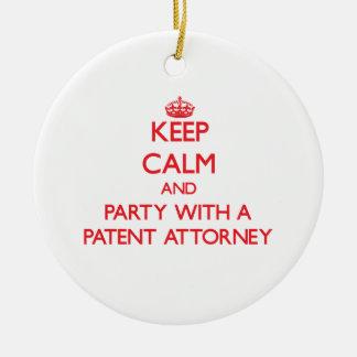 Guarde la calma y vaya de fiesta con un abogado de ornato