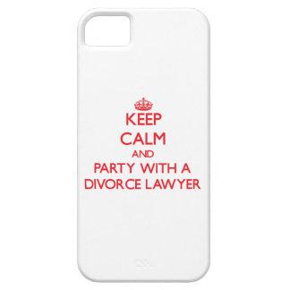 Guarde la calma y vaya de fiesta con un abogado de iPhone 5 Case-Mate cobertura