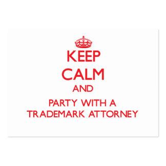 Guarde la calma y vaya de fiesta con un abogado de tarjeta de visita