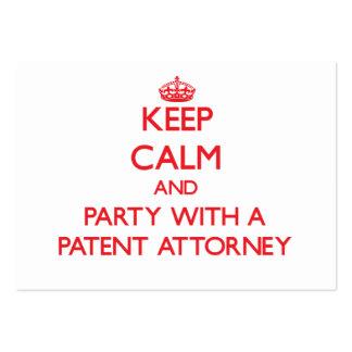 Guarde la calma y vaya de fiesta con un abogado de plantilla de tarjeta de negocio