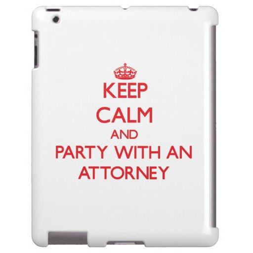 Guarde la calma y vaya de fiesta con un abogado funda para iPad