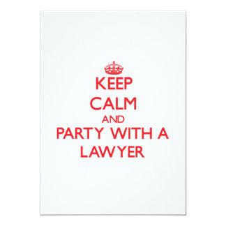 Guarde la calma y vaya de fiesta con un abogado comunicado