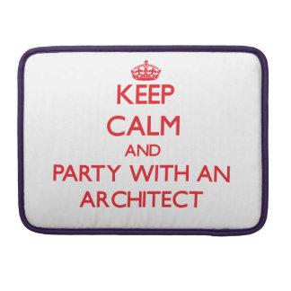 Guarde la calma y vaya de fiesta con un arquitecto funda para macbook pro