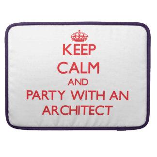 Guarde la calma y vaya de fiesta con un arquitecto fundas macbook pro