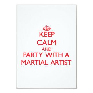 Guarde la calma y vaya de fiesta con un artista invitación 12,7 x 17,8 cm