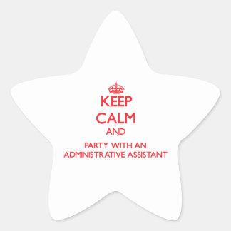Guarde la calma y vaya de fiesta con un Assista ad Pegatina Forma De Estrella Personalizada