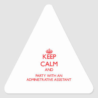 Guarde la calma y vaya de fiesta con un Assista ad Calcomania Trianguloada