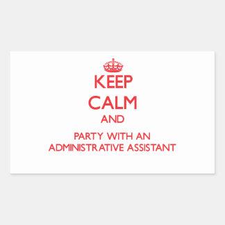 Guarde la calma y vaya de fiesta con un Assista ad Pegatinas