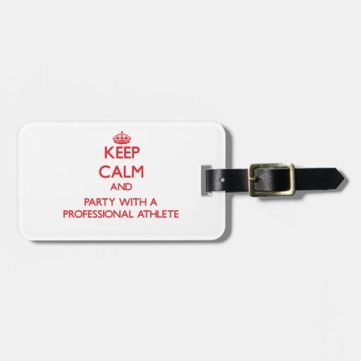 Guarde la calma y vaya de fiesta con un atleta pro etiqueta de equipaje