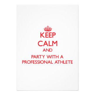 Guarde la calma y vaya de fiesta con un atleta pro comunicados