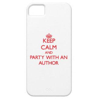 Guarde la calma y vaya de fiesta con un autor funda para iPhone 5 barely there