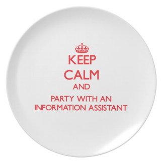 Guarde la calma y vaya de fiesta con un ayudante d platos