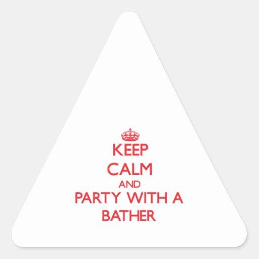 Guarde la calma y vaya de fiesta con un bañista colcomanias trianguladas