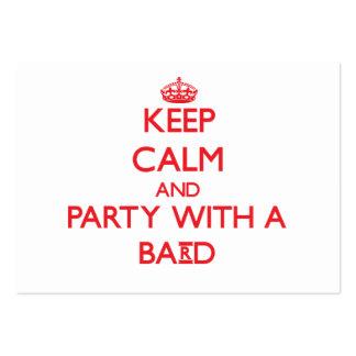 Guarde la calma y vaya de fiesta con un bardo tarjetas de visita