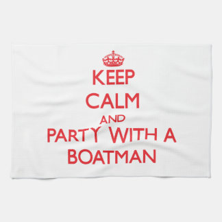 Guarde la calma y vaya de fiesta con un barquero toalla