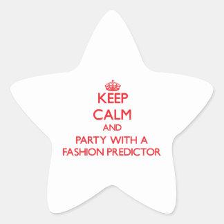 Guarde la calma y vaya de fiesta con un calculador calcomanías forma de estrella