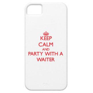 Guarde la calma y vaya de fiesta con un camarero iPhone 5 Case-Mate protectores