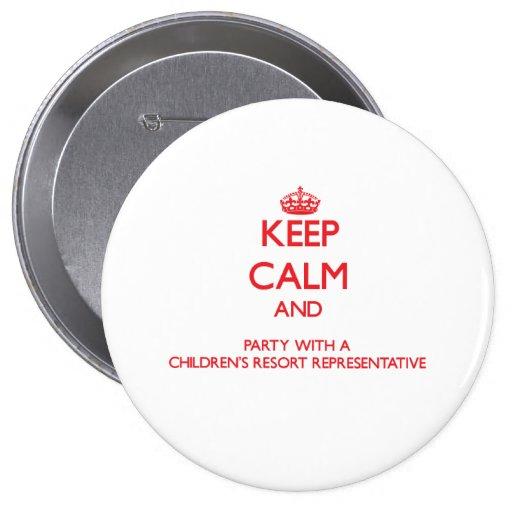 Guarde la calma y vaya de fiesta con un centro tur pin