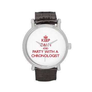 Guarde la calma y vaya de fiesta con un Chronologi Relojes