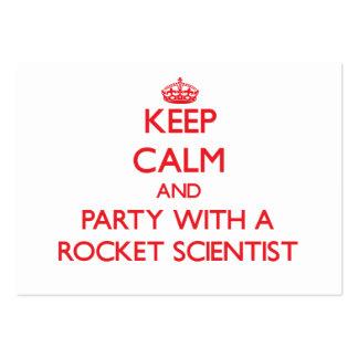 Guarde la calma y vaya de fiesta con un científico tarjetas de visita