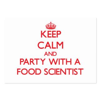 Guarde la calma y vaya de fiesta con un científico tarjeta de negocio