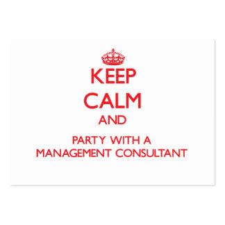 Guarde la calma y vaya de fiesta con un consultor  plantilla de tarjeta de visita