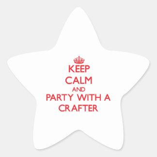 Guarde la calma y vaya de fiesta con un Crafter Calcomanías Forma De Estrellas Personalizadas