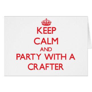 Guarde la calma y vaya de fiesta con un Crafter Felicitaciones