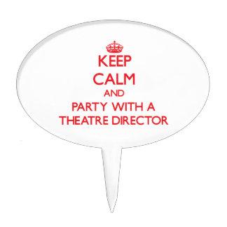 Guarde la calma y vaya de fiesta con un director d decoración de tarta