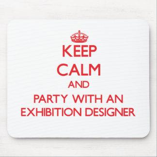 Guarde la calma y vaya de fiesta con un diseñador alfombrilla de ratones