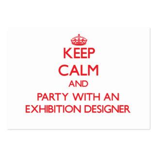 Guarde la calma y vaya de fiesta con un diseñador  plantilla de tarjeta personal
