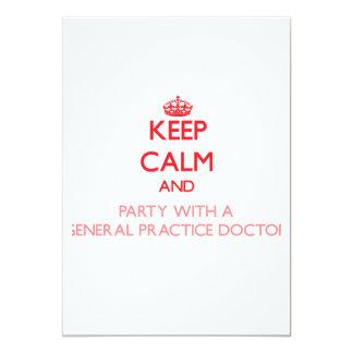 Guarde la calma y vaya de fiesta con un doctor de comunicado