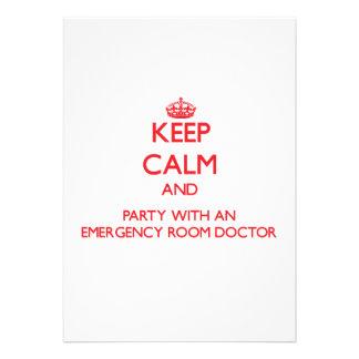 Guarde la calma y vaya de fiesta con un doctor de comunicados