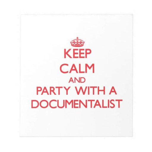 Guarde la calma y vaya de fiesta con un documental bloc