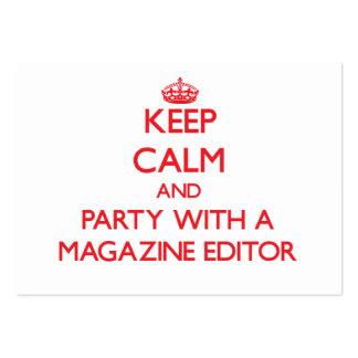 Guarde la calma y vaya de fiesta con un editor de  tarjetas de negocios