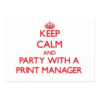 Guarde la calma y vaya de fiesta con un encargado  tarjeta de negocio