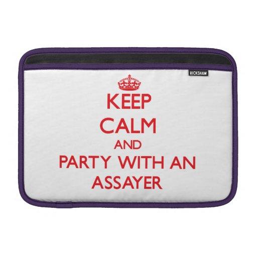 Guarde la calma y vaya de fiesta con un ensayador fundas MacBook
