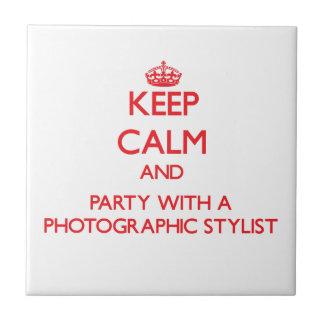 Guarde la calma y vaya de fiesta con un estilista  tejas  ceramicas