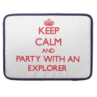 Guarde la calma y vaya de fiesta con un explorador fundas macbook pro